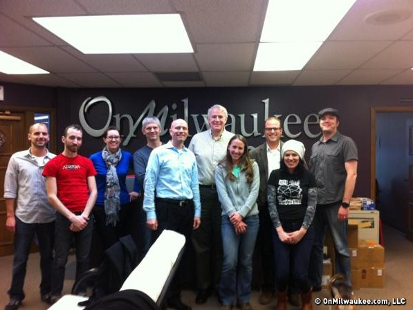 Mayor Tom Barrett and many from of the OnMilwaukee.com team.