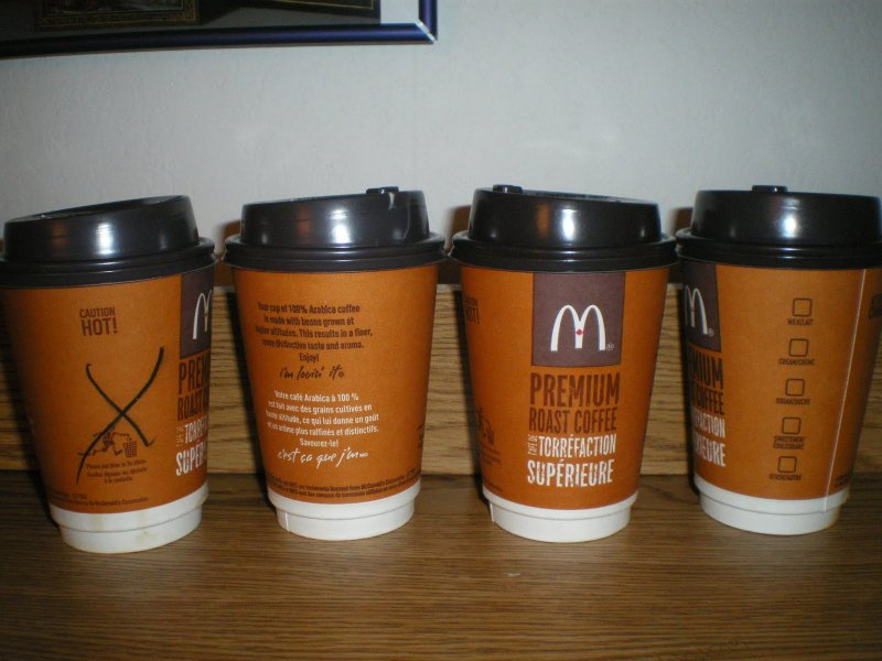Good to the last drop: McDonald's coffee cup.