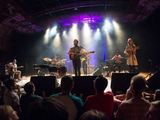 James Vincent McMorrow performing at Turner Hall Ballroom Tuesday night.