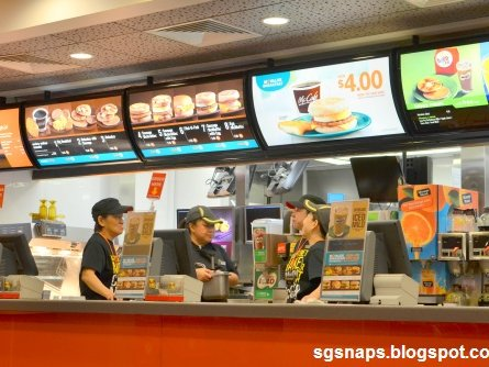 Fast food in Singapore looks a lot like it does at home.