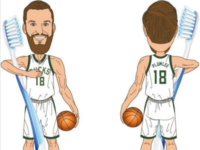 The Bucks are giving away Miles Plumlee bobblehead toothbrush holders this year