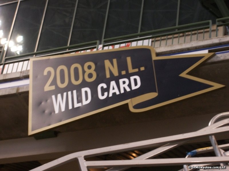 Soon, the 2011 banner will have the same ball marks from home runs as the 2008 Wild Card banner.