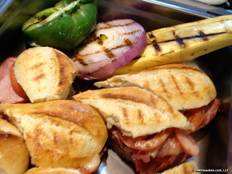 Miller Park has a trio of panini - veggie, Italian and Cuban - on offer.