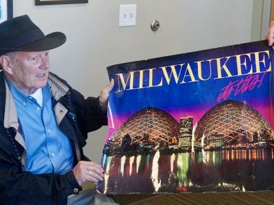 The backstory behind Milwaukee's bustiest poster