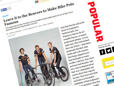 Bike Poloists in GQ Image