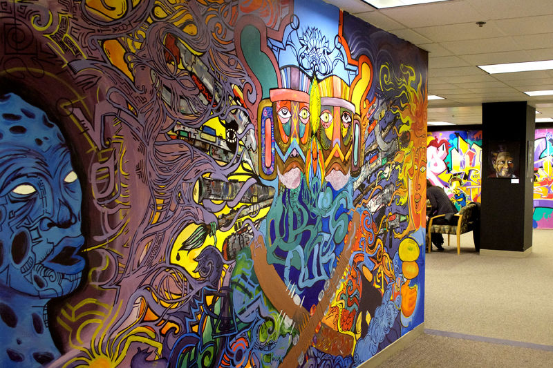 Murals and urban arts play a big role in TRUE Skool's education programs