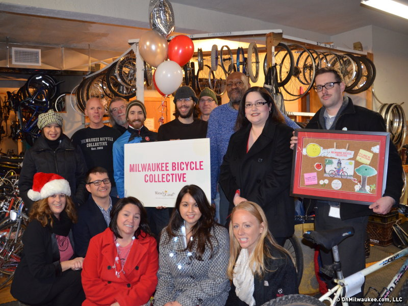A very merry Milwaukee Bicycle Collective.
