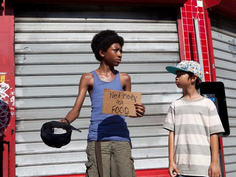 "Skylan Brooks (left) and Ethan Dizon star in ""The Inevitable Defeat of Mister and Pete."""