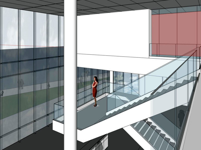 An interior view of the expansion space that will add 17,000 square feet to the museum's existing 345,000 square feet.