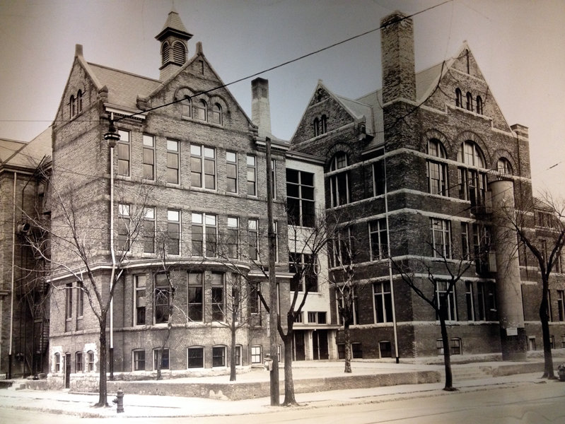 21st Street School, razed in 1977, is one of the buildings featured in a new exhibit a Milwaukee' Central Library.