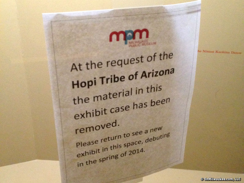 The Milwaukee Public Museum has respected a request from the Hopi tribe of Arizona to remove some masks from display.