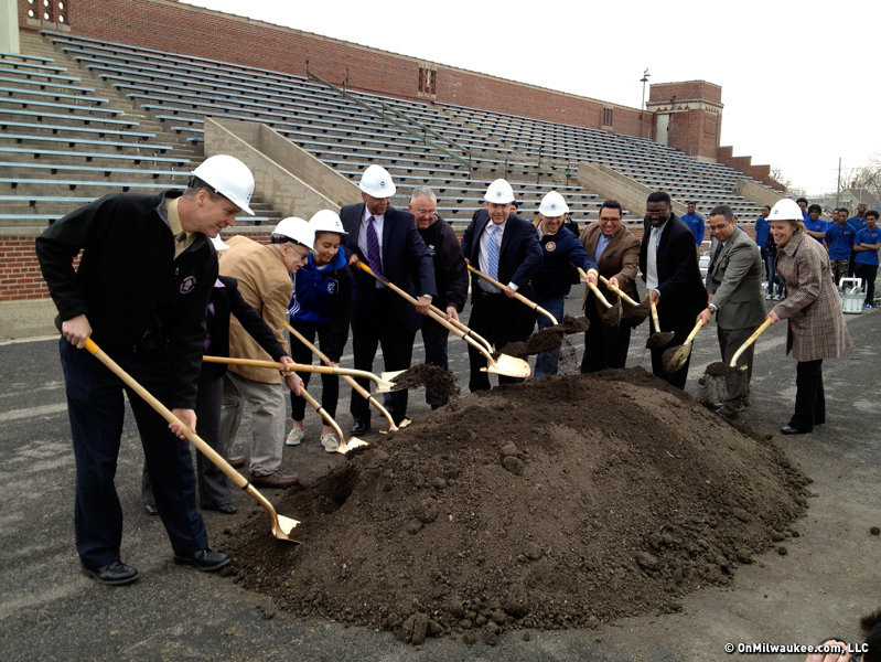And, of course, ceremonial dirt was ceremonially turned.