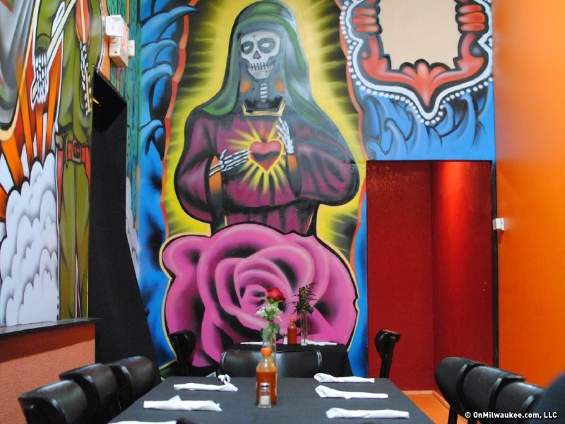 The decor is colorful and unique. It is unlike any other Mexican eatery in Milwaukee.