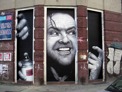 Internationally recognized street artist MTO adds art to Oriental's wall