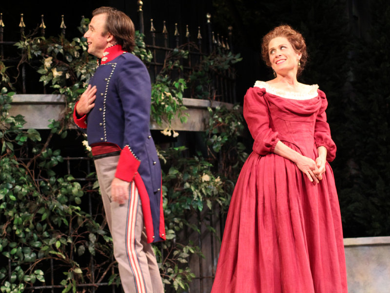 "David Daniel and Colleen Madden star in APT's production of ""Much Ado About Nothing."""
