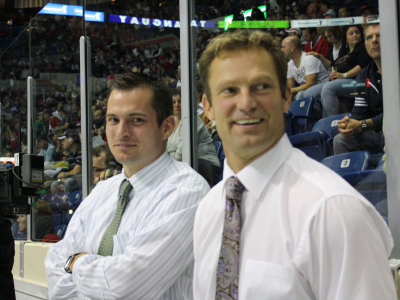 b223b0aab The Carolina Hurricanes have hired Milwaukee Admirals coach Kirk Muller  (right) as their new coach