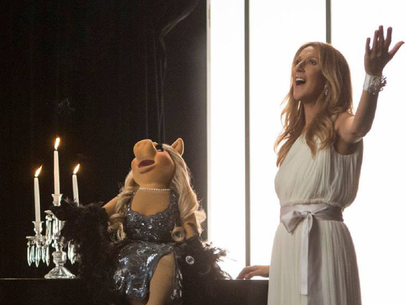 "Celine Dion and Miss Piggy perform in ""Muppets Most Wanted,"" released on Blu-ray combo pack on Tuesday."