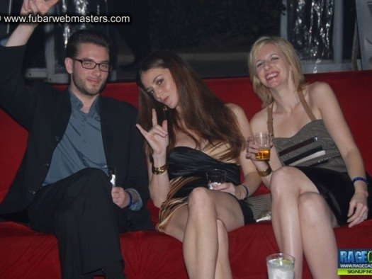 Monty, Michelle and Jordan at the Playboy Mansion.