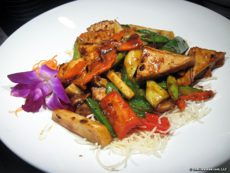 A More Traditional Dish, The Black Bean Sauce With Tofu Was Colorful, But  Surprisingly Without Much Flavor.