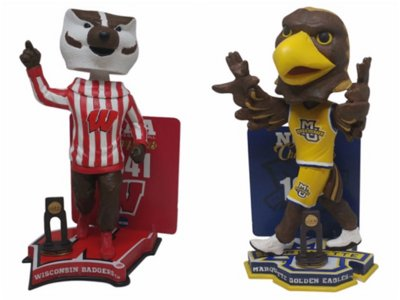 Wisconsin and Marquette NCAA Championship bobbleheads released