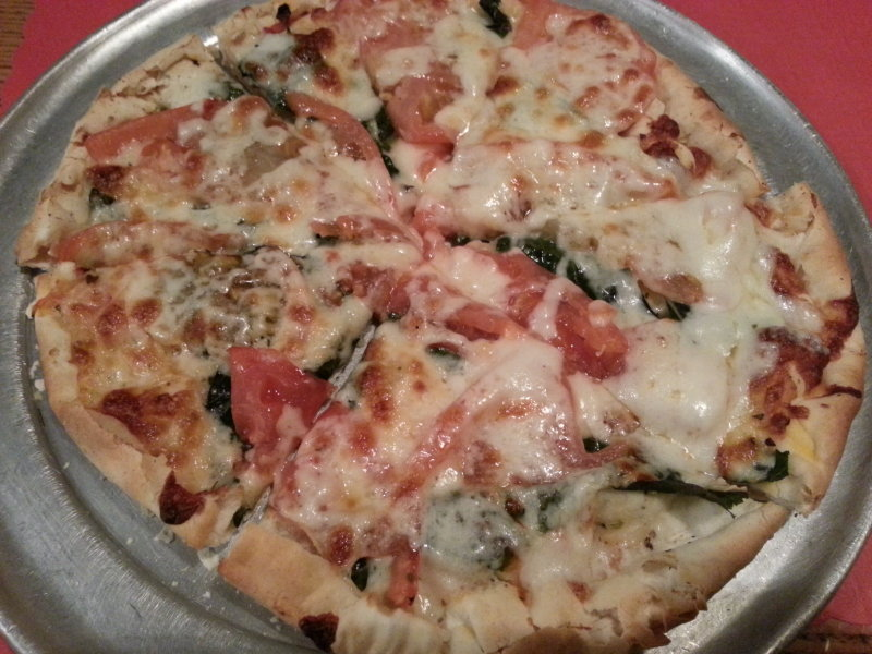 "Ned's Pizza's ""Margarita"" pizza."