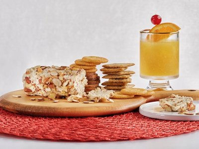 Easy recipes for New Year's Eve: Brandy slush & Swiss almond cheese log