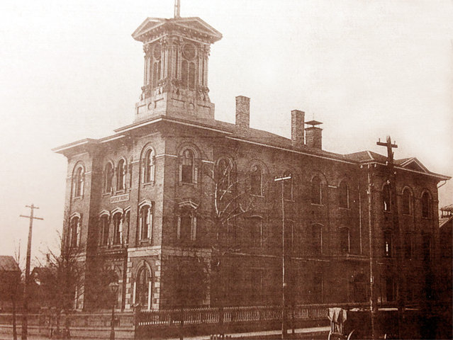 The old District 2 - aka The Jefferson School - now home to Best Place. (Milwaukee County Historical Society photo.)