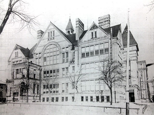 The 1889 replacement for The Jefferson School, on 10th and Highland. Now razed. (Milwaukee County Historical Society photo.)