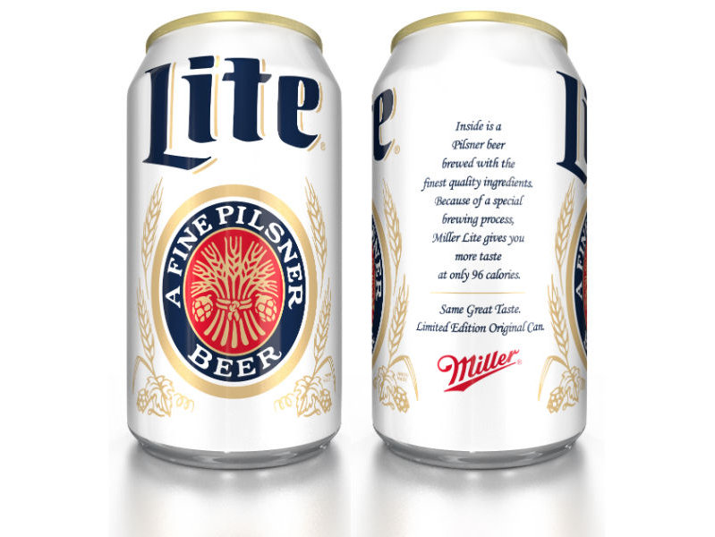 Miller Lite's Original Lite can will be available January through March of 2014.