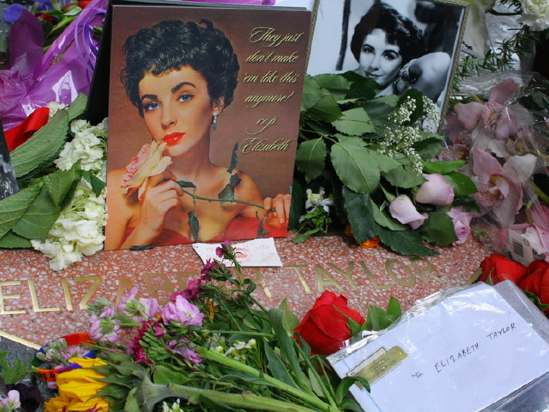 People created a memorial when actress Elizabeth Taylor died in 2011. Taylor, was part of the dead pool file at many different newsrooms.