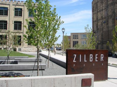 Zilber Park dedicated today at The Brewery
