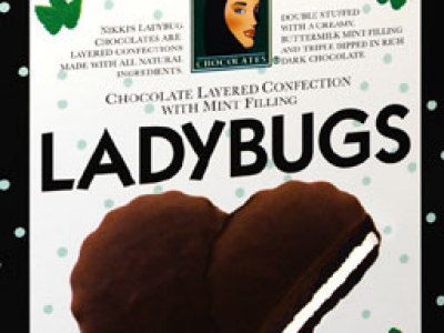 The mint Ladybugs are chocolate wafers double stuffed with buttermilk ...