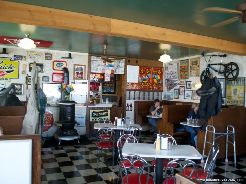 The diner is friendly, welcoming and smells like cheeseburgers.