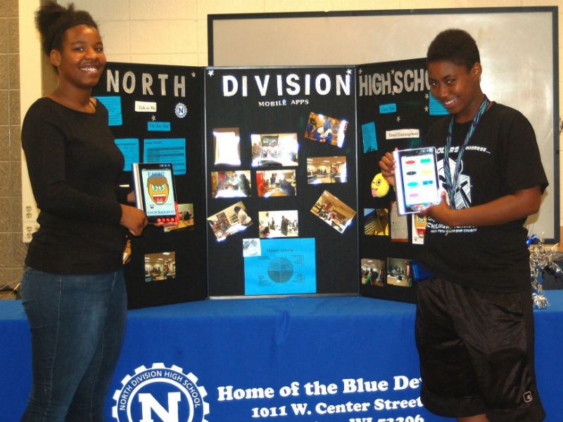 Two North Division students compete for fan favorite in national app competition