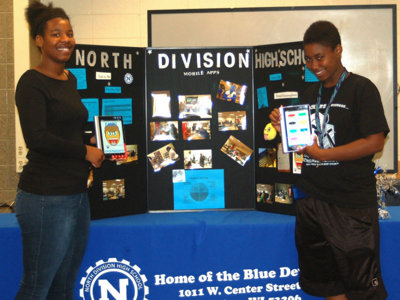 Two North Division students compete for fan favorite in national app competition Image