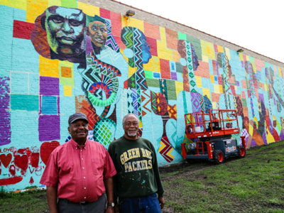 Wisconsin Black Historical Society mural brings joy and light to Sherman Park