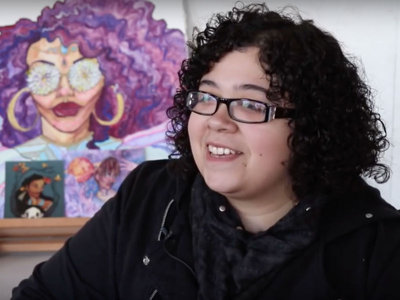 Milwaukee artist uses drawings to connect with hip-hop community