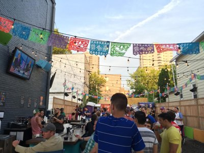 Nomad kicks off summer with new biergarten