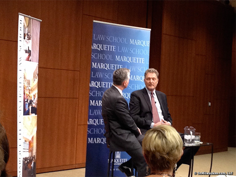 "Mike Gousha and former mayor John Norquist had a fun and informative chat ""On the Issues"" Wednesday at Marquette Law School."