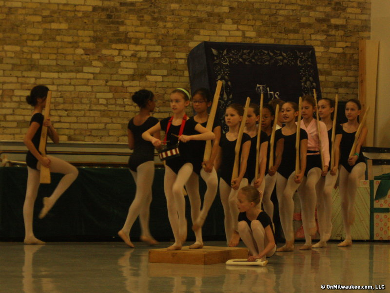 "Young students from the Milwaukee Ballet School and Academy rehearse a scene from ""The Nutcracker."""