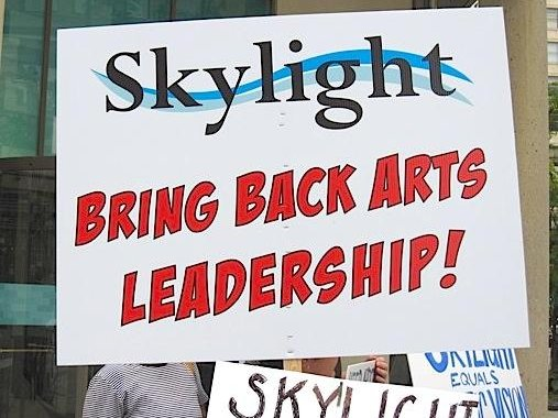 Protests and more.  All part of the drama at the Skylight.
