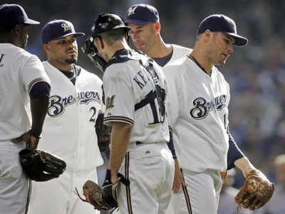 It wasn't exactly a golden day for Sheets, Brewers Image