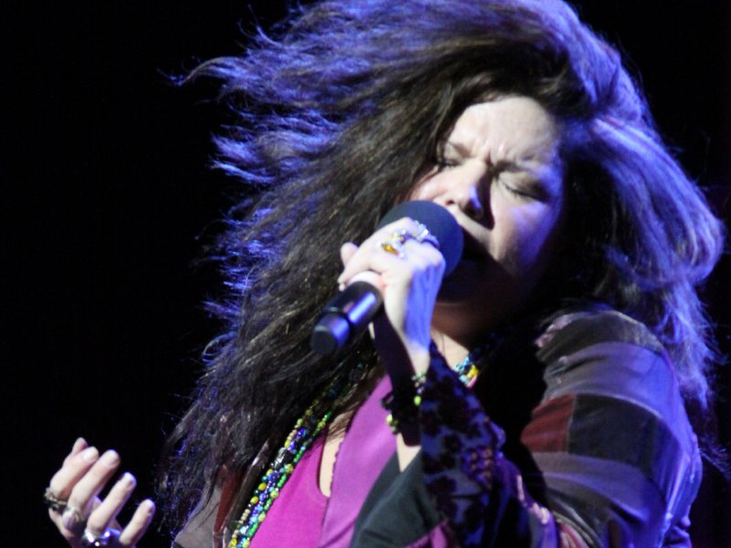 "Mary Bridget Davies as Janis Joplin in a scene from ""One Night With Janis Joplin."""