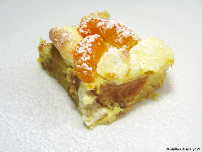 Baked orange dream French toast.  Mmmm.