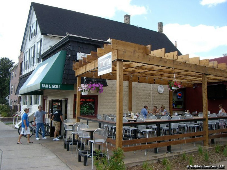 Lounge on Leff's winding outdoor patio. - Outdoor Drinking Guide - OnMilwaukee