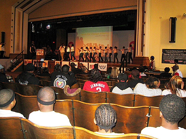 A Youth Peace Rally was held Saturday at Washington High.