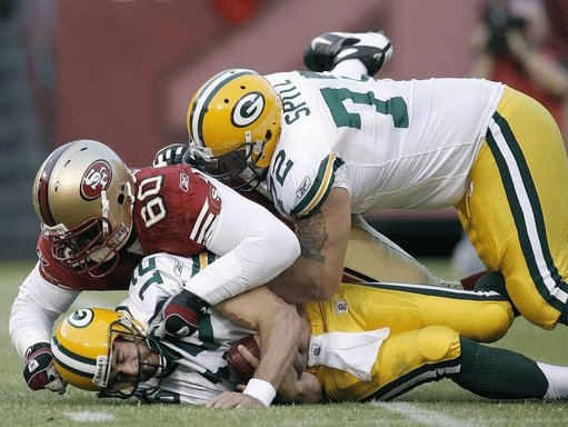 The Packers' offensive line has given up sacks regularly in the pre-season.