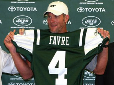 ... after holding up his new No. 4 jersey at a press conference.