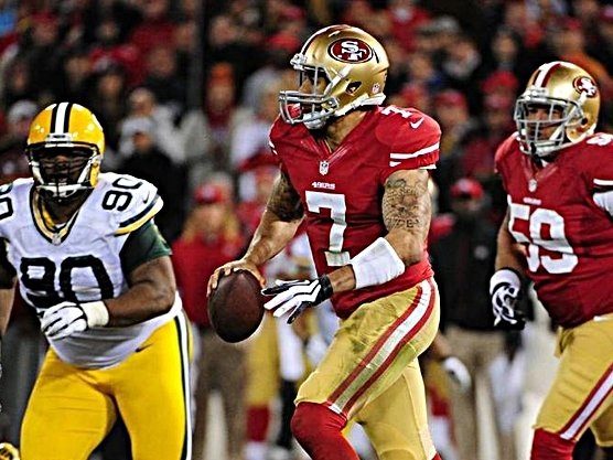 San Francisco 49ers quarterback Colin Kaepernick was unstoppable in a playoff win over the Green Bay Packers Saturday night.