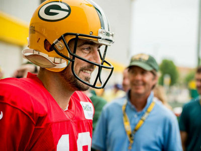 Aaron Rodgers talks little brother's comments, fantasy football and camp pranks